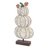 Boston International LED Pumpkin Stack in Silver