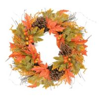 24-Inch Artificial Autumn Harvest Wreath