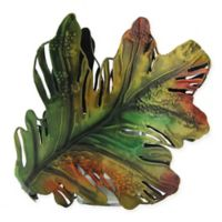 Roman Oak Leaf Metal Multicolor Votive Holder
