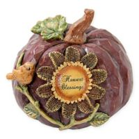 """Harvest Blessings"" Multicolor Pumpkin Tabletop Decoration"