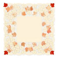 Heritage Lace® Autumn Elegance 34-Inch Square Table Cloth in White