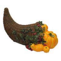 Pumpkin and Basket Figurine in Orange