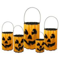 Gerson Jack-O-Lantern Containers in Orange (Set of 5)