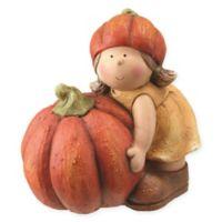 Harvest Girl with Pumpkin Figurine