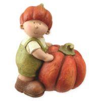 Harvest Boy with Pumpkin Figurine