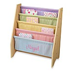 KidKraft® Personalized Girl's Sling Bookcase in Pastel with Pink Lettering