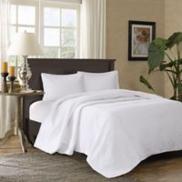 Madison Park Corrine King/California King Coverlet Set in White