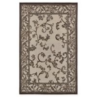Unique Loom Traditional 5' x 8' Area Rug in Beige/Brown
