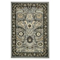 Isfahan Design 4' x 6' Area Rug in Dark Grey
