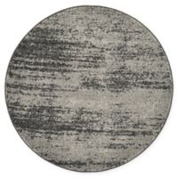 Unique Loom Del Mar 3' Round Accent Rug in Dark Grey