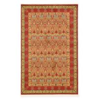 Unique Loom Carnation Heritage 5' x 8' Power-Loomed Area Rug in Red