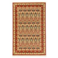 Unique Loom Carnation Heritage 5' x 8' Power-Loomed Area Rug in Rust