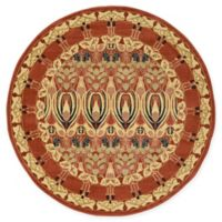 Unique Loom Carnation Heritage 6' Round Power-Loomed Area Rug in Rust
