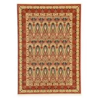 Unique Loom Carnation Heritage 7' x 10' Power-Loomed Area Rug in Rust
