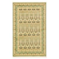 Unique Loom Carnation Heritage 5' x 8' Power-Loomed Area Rug in Light Green