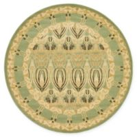 Unique Loom Carnation Heritage 6' Round Power-Loomed Area Rug in Light Green