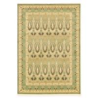 Unique Loom Carnation Heritage 7' x 10' Power-Loomed Area Rug in Light Green