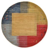 Unique Loom Carson Nomad 6' Round Power-Loomed Area Rug in Tan