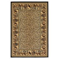 Unique Loom Cheetah Wildlife 6' x 9' Power-Loomed Area Rug in Light Brown