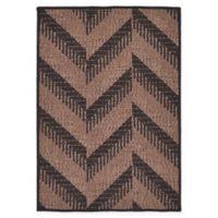 Unique Loom Chevron Indoor/Outdoor 2'2 x 3' Accent Rug in Brown