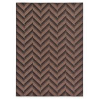Unique Loom Chevron Indoor/Outdoor 7' x 10' Area Rug in Brown