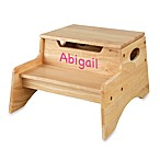 KidKraft® Personalized Girl's Step 'N Store in Natural with Pink Lettering