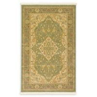 Rosey Heritage 3'3 x 5'3 Area Rug in Light Green
