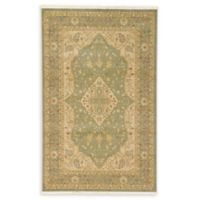 Rosey Heritage 5' x 8' Area Rug in Light Green
