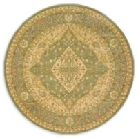 Rosey Heritage 6' Round Area Rug in Light Green