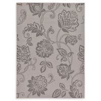 Floral 7' x 10' Indoor/Outdoor Area Rug in Grey