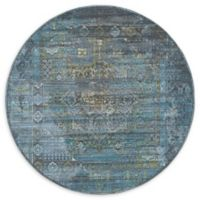 Unique Loom Havana 5' Round Area Rug in Dark Grey
