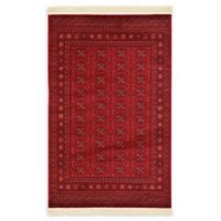 Unique Loom Bokhara 4' x 6' Area Rug in Red