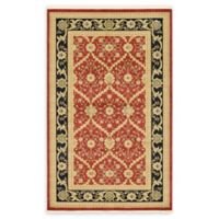 Unique Loom Freesia Heritage 5' x 8' Area Rug in Red