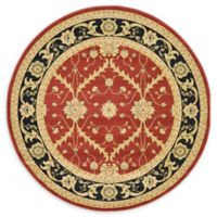 Unique Loom Freesia Heritage 6' Round Area Rug in Red