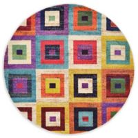 Unique Loom Demi Barcelona Multicolor 6' Round Area Rug