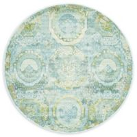 Unique Loom Havana 5' Round Area Rug in Light Blue