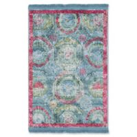 Unique Loom Havana 2'2 x 3' Accent Rug in Turquoise/Pink
