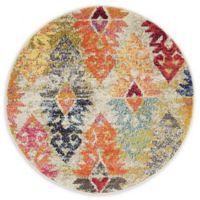 Unique Loom Desert Sedona Multicolor 3' Round Rug