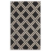 "Unique Loom Trellis 3' 3"" x 5' 3"" Area Rug in Black"