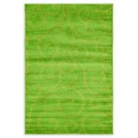 Unique Loom Floral Frieze 4' x 6' Area Rug in Green