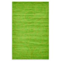 Unique Loom Floral Frieze 5' x 8' Area Rug in Green
