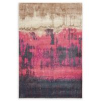Unique Loom Flen Stockholm 4' x 6' Area Rug in Pink