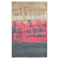 Unique Loom Flen Stockholm 5' x 8' Area Rug in Pink