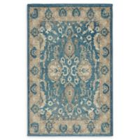 Unique Loom Vintage Salzburg 2' x 3' Accent Rug in Light Blue