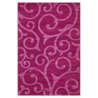 Floral Frieze 4' x 6' Area Rug in Violet