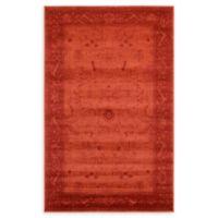 Unique Loom La Jolla 5'x 8' Area Rug in Rust Red