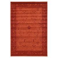 Unique Loom La Jolla 6' x 9' Area Rug in Rust Red