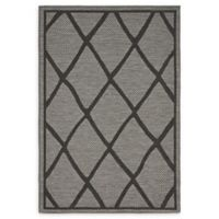Unique Loom Diamonds 4' x 6' Loomed Indoor/Outdoor Area Rug in Grey