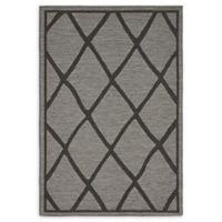 Unique Loom Diamonds 4' x 6' Loomed Indoor/Outdoor Area Rug in Grey