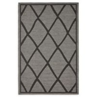 Unique Loom Diamonds 5' x 8' Loomed Indoor/Outdoor Area Rug in Grey
